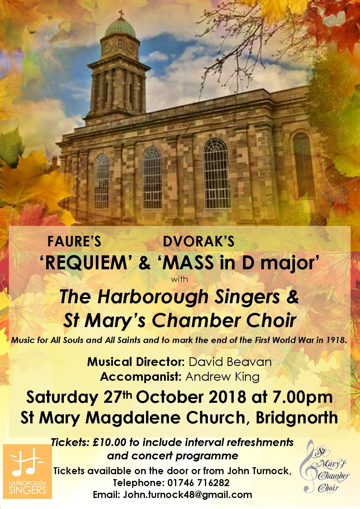 HARBOROUGH & ST MARYS OCTOBER POSTER 2018