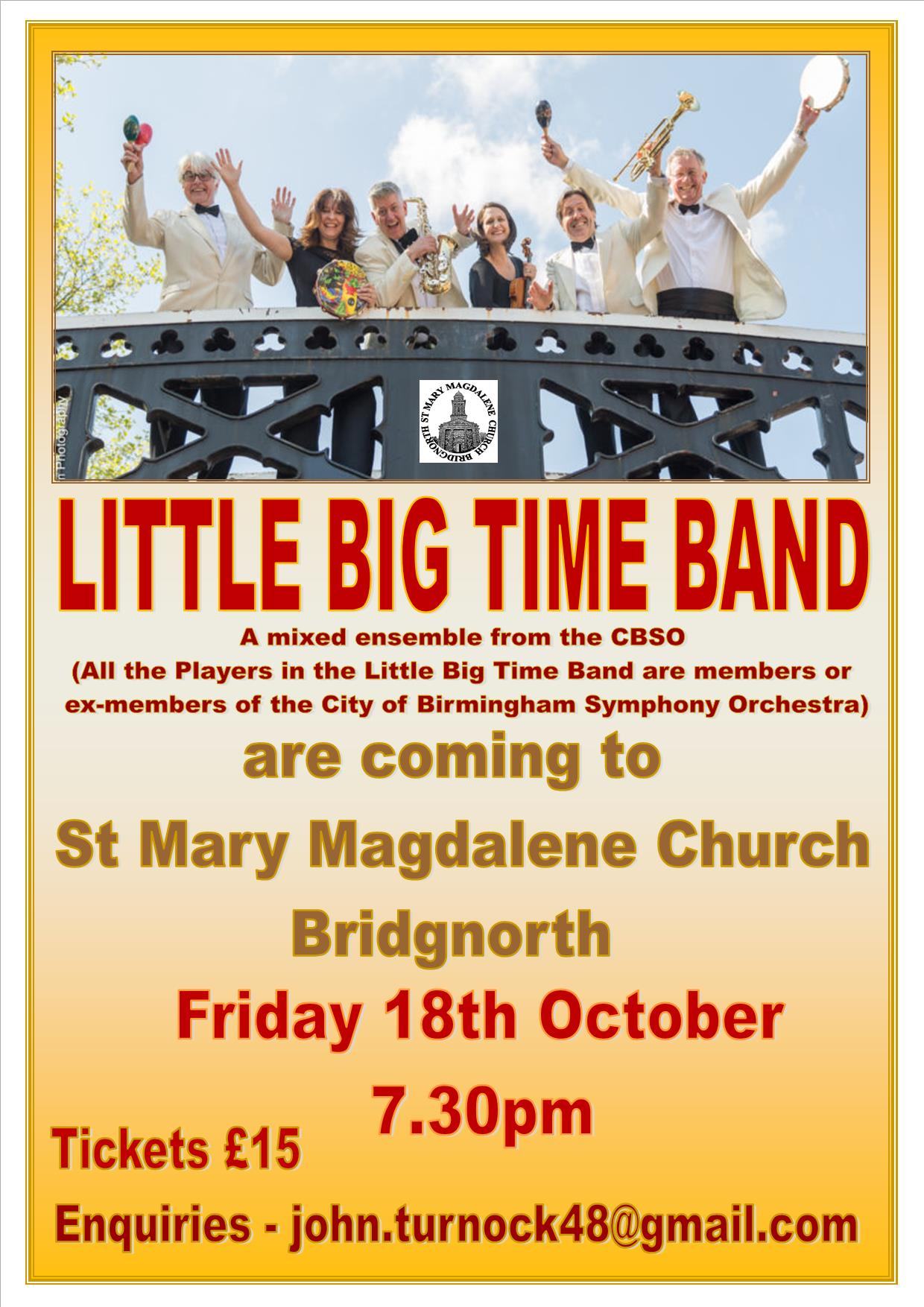 LITTLE BIG TIME BAND POSTER 18.10.19